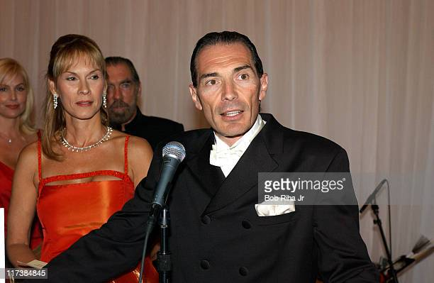 Child advocate Cheryl Saban and MGM chairman and CEO Alex Yemenidjian in Beverly Hills Calif on Saturday Oct 2 2004 at the inaugural Noche de Nios...