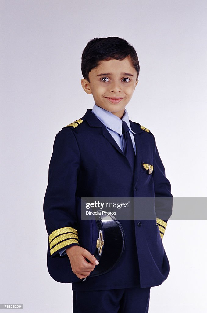 Child as airplane pilot