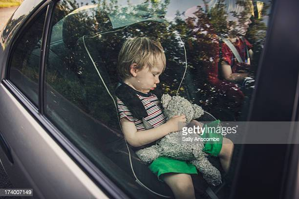 Child asleep in the car