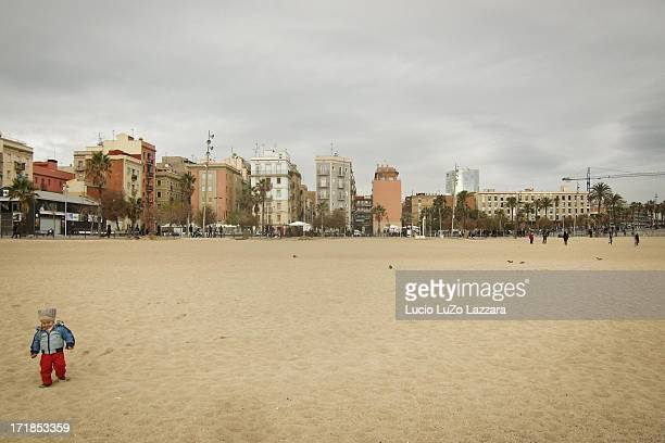 Child at Barceloneta beach