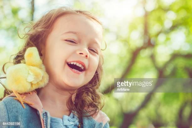 Kind met Pasen