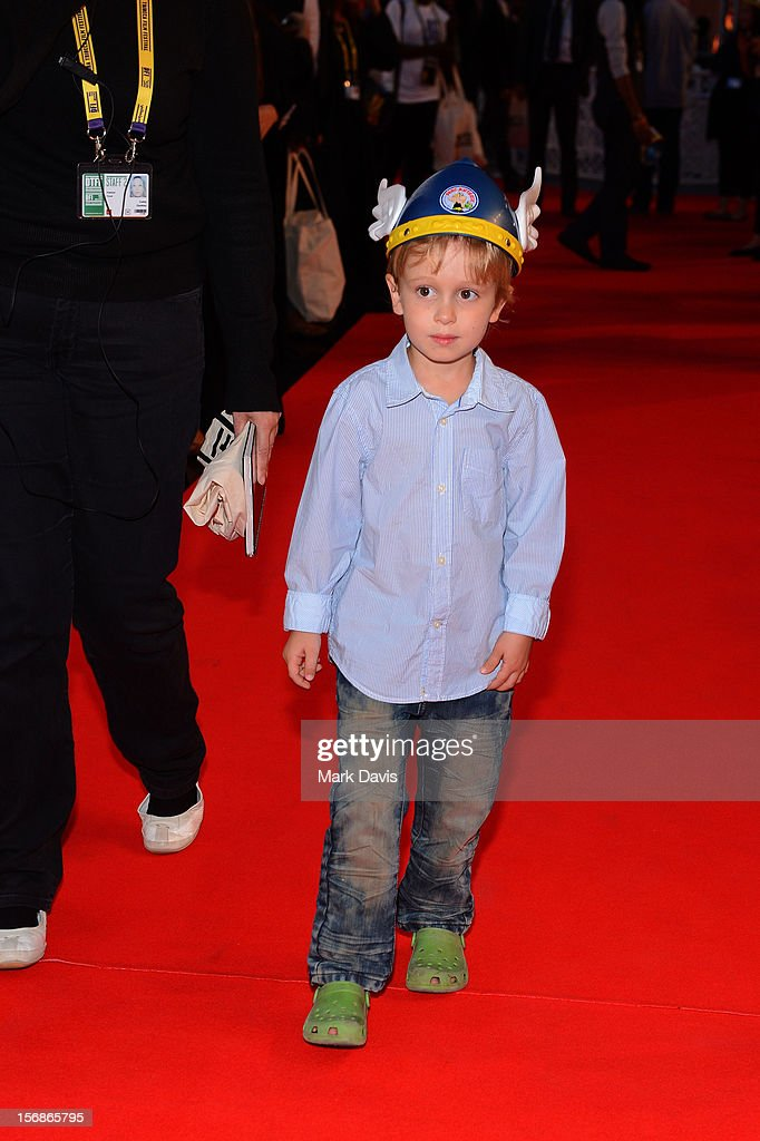 A child attends the 'Asterix and Obelix 3D' Premiere during the 2012 Doha Tribeca Film Festival at o n November 23, 2012 in Doha, Qatar.