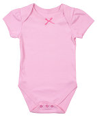 Child bodysuit isolated on a white background.