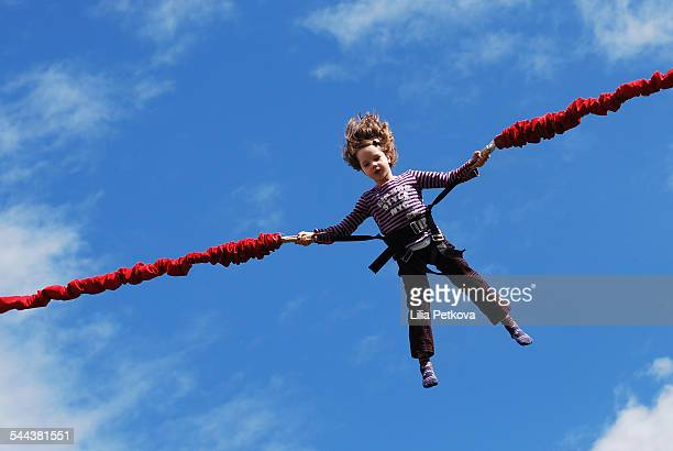 Child bungee jumping