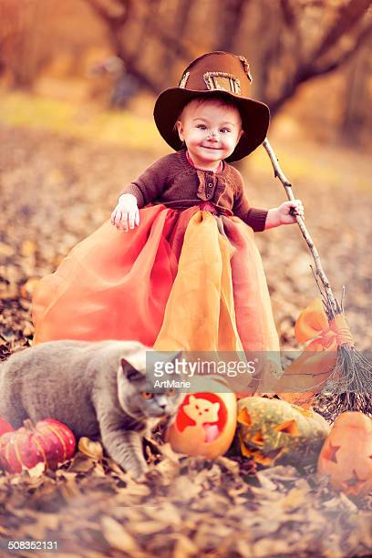 Bambino celebrare Halloween