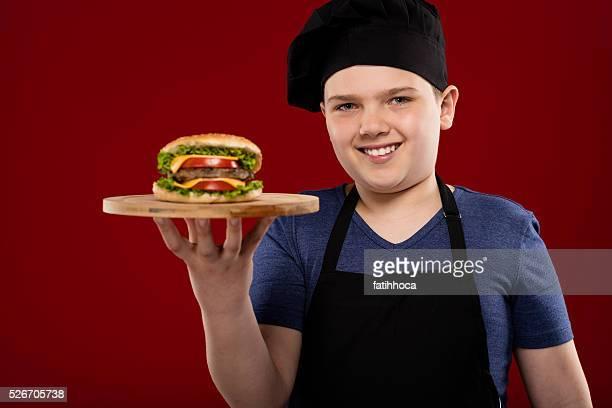 Child Chef and Hamburger