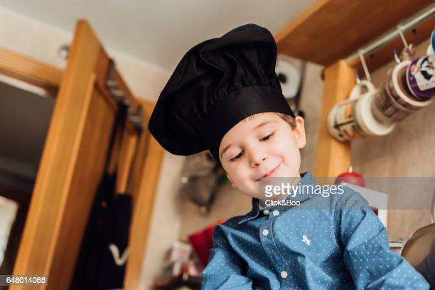Child disguised as chef