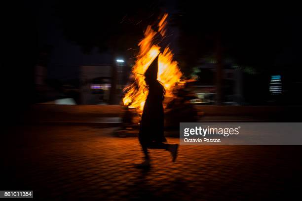 Child dressed as witch on the Witches' Night on October 13 2017 in Montalegre Portugal Witches Night occurs whenever the 13th falls on a Friday...