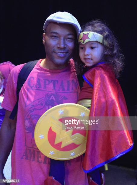 A child dressed as Wonder Woman attends the Cartoon Network Costume Ball during New York Comic Con 2017 JK at Hammerstein Ballroom on October 8 2017...