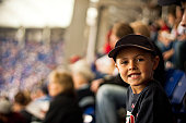 Child enjoying baseball game