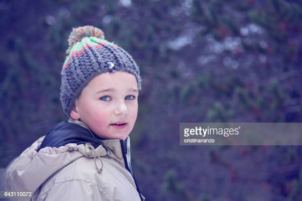 Child enjoying the snow