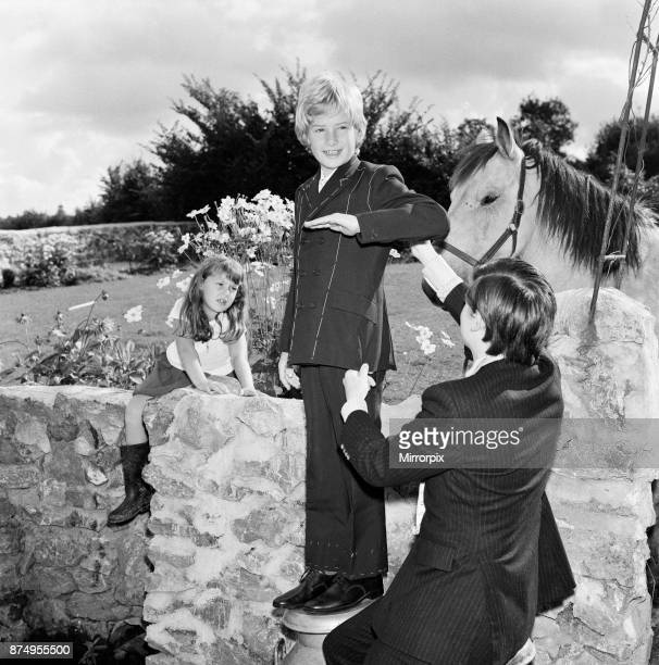 Child film star Mark Lester 10 years old being fitted for the suit which he will wear when being presented to Princess Margaret at the London film...