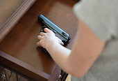 Child found pistol in drawer at home.
