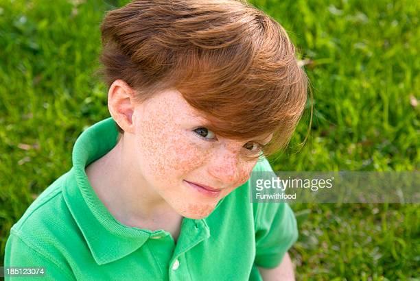 Child Freckle Face Redhead Irish Green St. Patrick's Day Boy