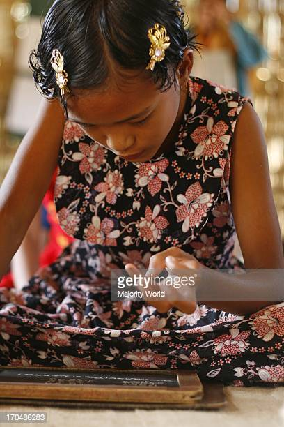 A child from ethnic community learns mathematics at a school run by Catholic Mission in Rangamati one of the hill districts under Chittagong division...