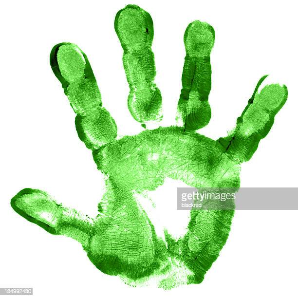 Criança mão impressão
