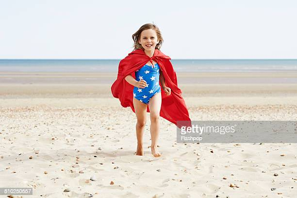 Child having fun at the beach