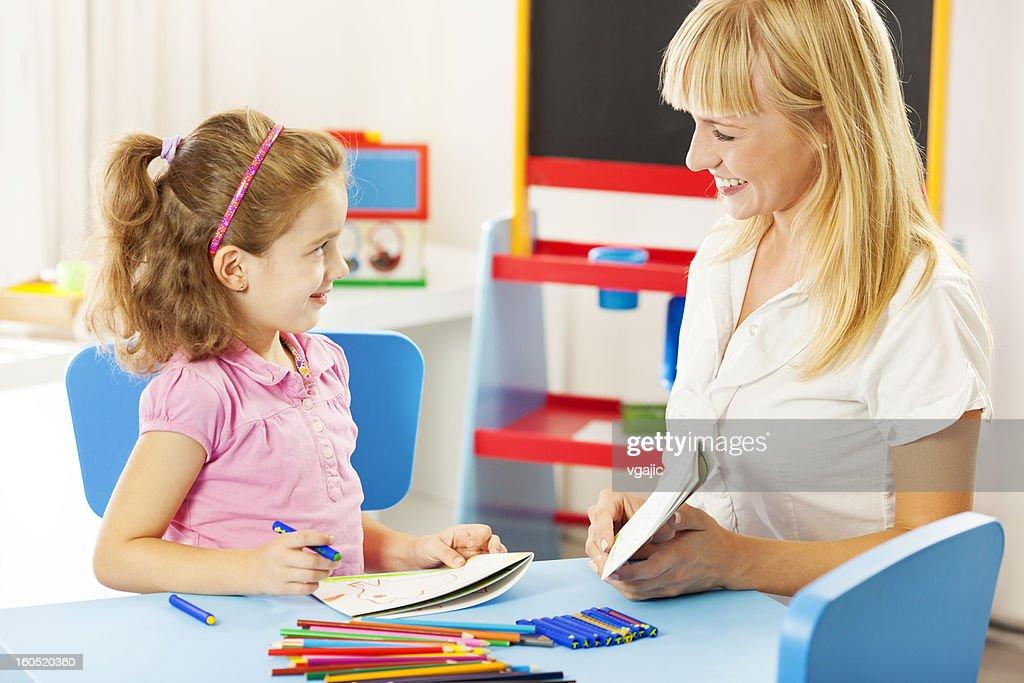 Child Having Speech Therapy. : Stock Photo