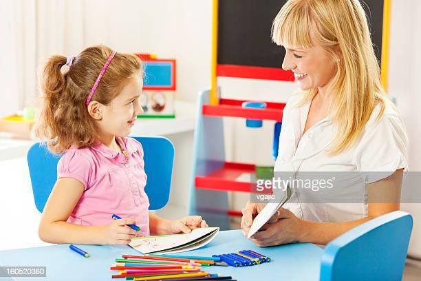 Child Having Speech Therapy.