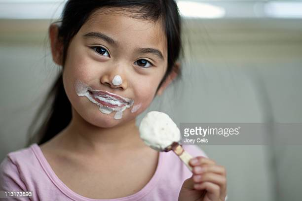Child holding ice cream