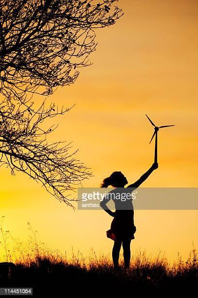 お子様 1 名様までの少人数の風力タービンます。