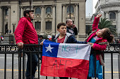 quot No more AFP quot Thousand of workers students retirees and families marched in Santiago to demand the end of the current chilean pension model...