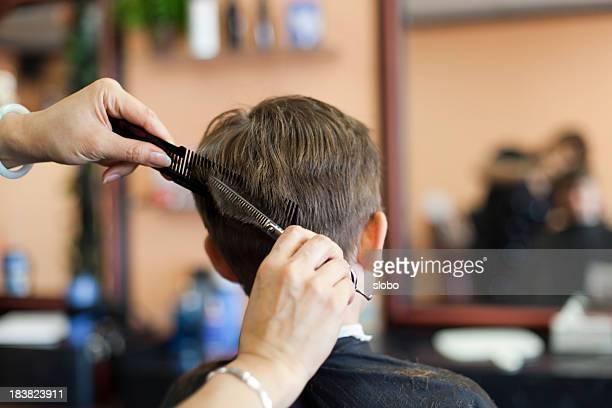 Child in a hair salon