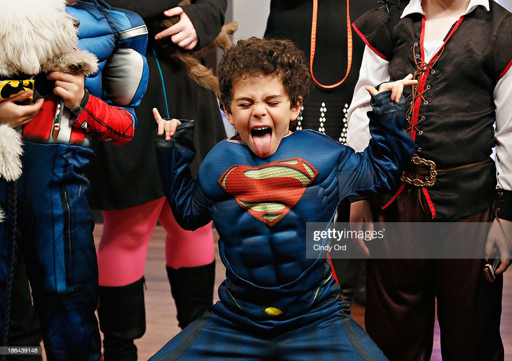 A child in costume attends as 'FOX & Friends' celebrates Halloween at FOX Studios on October 31, 2013 in New York City.