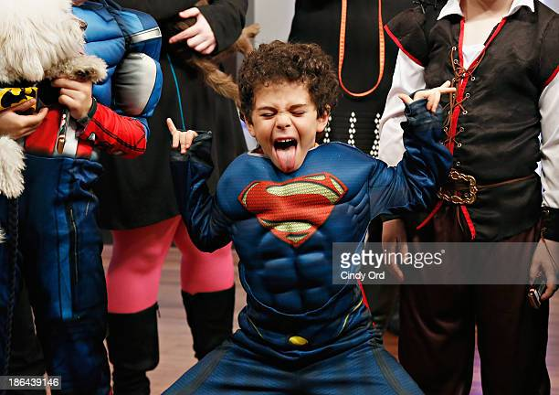 A child in costume attends as 'FOX Friends' celebrates Halloween at FOX Studios on October 31 2013 in New York City