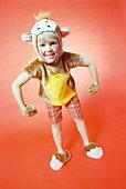 Child in monkey costume
