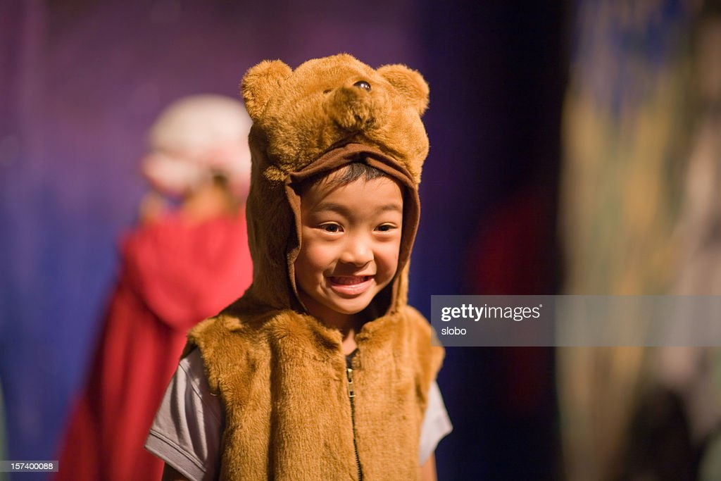 Child In Preschool Theater Play : Stock Photo