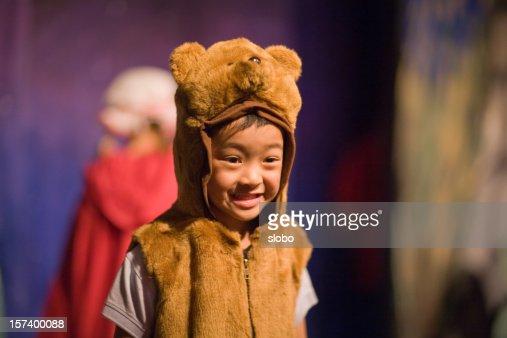 Child In Preschool Theater Play