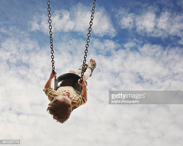 Child in the swing
