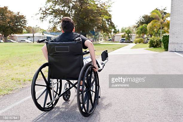 Child in wheel chair