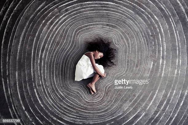 Child Inside Tree Growth Rings