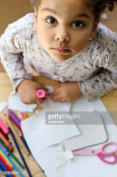 Kind ist-Zeichnung im Kindergarten