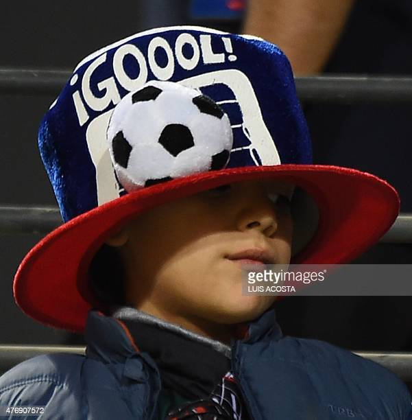 A child is seen at the Sausalito Stadium stadium in Vina del Mar hours before the Copa America 2nd match on June 12 2015 between Mexico and Bolivia...