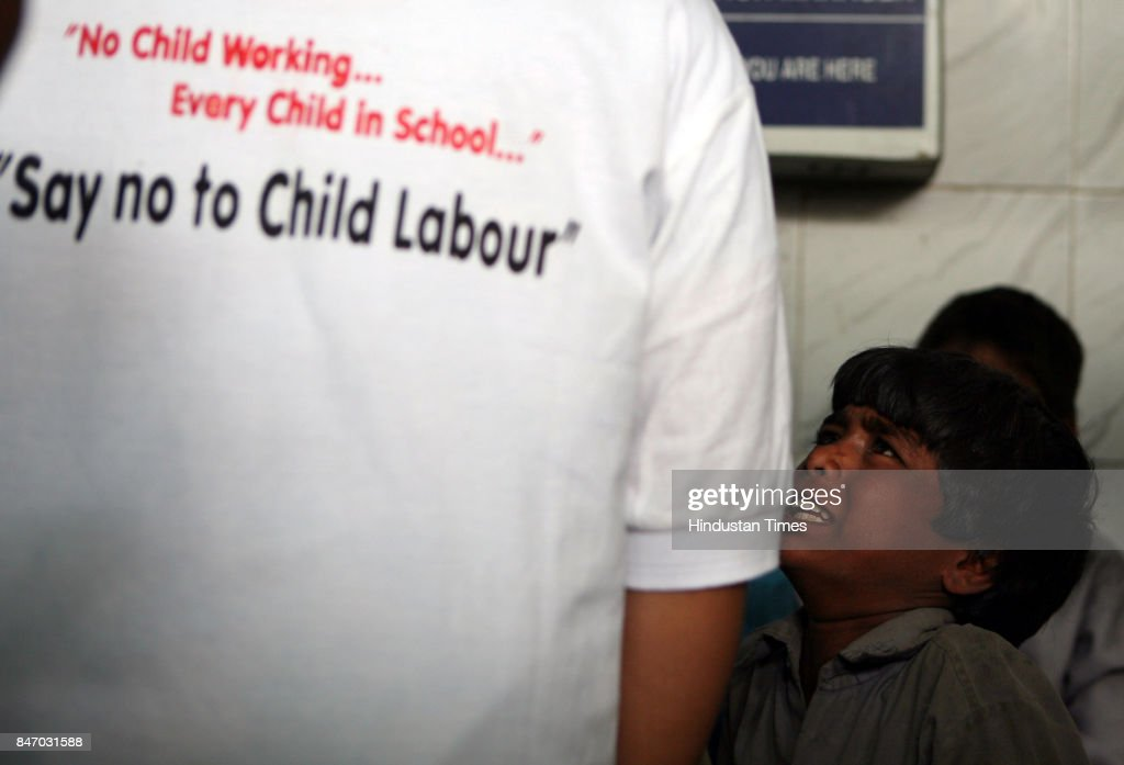 Child Labour and Begging Natke being rescued from the Kurla Terminus by the NGO personnels of Pratham. Around 232 child labourers were rescued from the three sections of the railway stations (Central, Western, Harbour Line) on Wednesday morning by Pratham NGO.