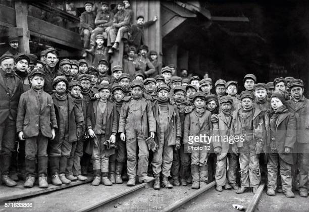 Child labour in the USA 1911 South Pittston Pa Breaker boys working in Ewen Breaker of Pennsylvania Coal Company