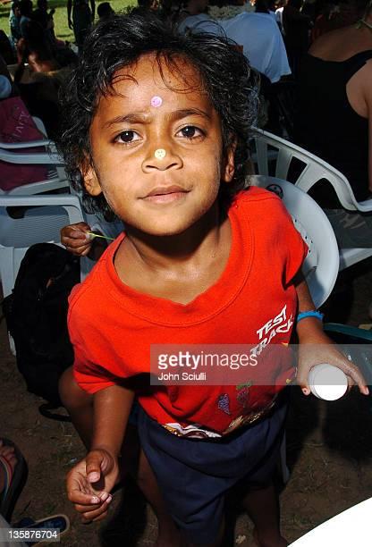 Child of Mome village during Kelly Slater Invitational Fiji Day 2 Mome Village Tour in Mome Village Tavarua Island Fiji