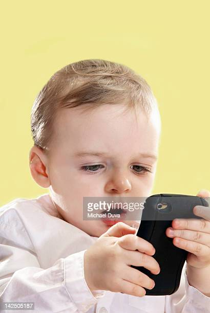 Child overly focused on electronic device
