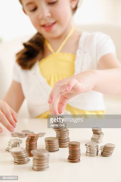 Child paying with money