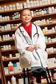 A child pharmacist