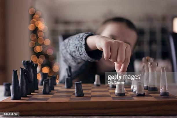 Child playing chess