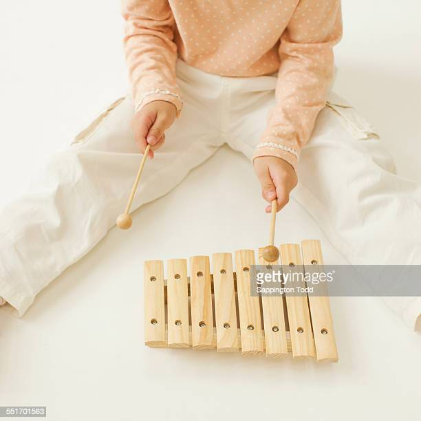Child Playing Xylophone