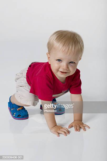 Child (21-24 months), posing in studio, portrait