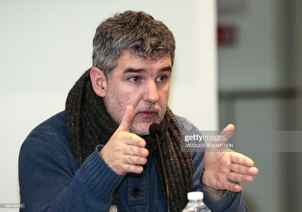 Child psychiatrist Vincent Rouyer talks during a press conference on January 10, 2013, in Paris, organised by same-sex marriage opponents prior to a demonstration to be held on January 13 against same-sex marriage.