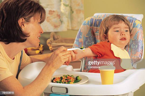 Child refusing to eat her vegetables