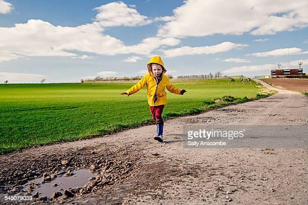 Child running outdoors