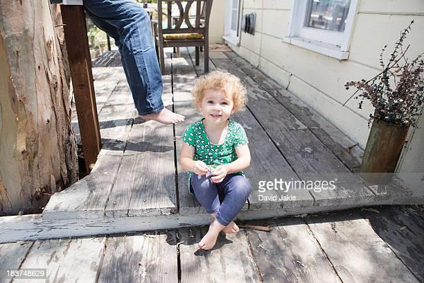Child sitting cross legged